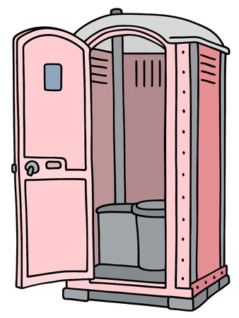 Rich and light pink mobile toilet Illustration