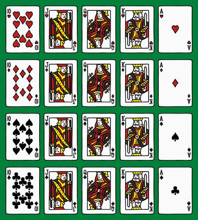 royal flush: Four poker royal flush