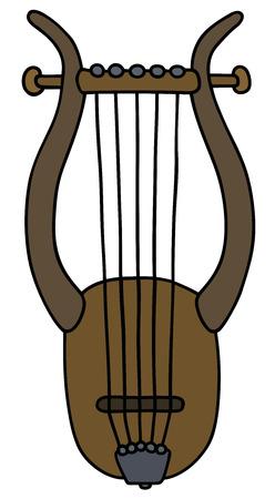 古代ギリシャの竪琴  イラスト・ベクター素材