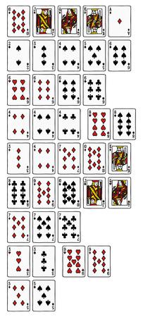 straight flush: Ranking hands of poker Illustration