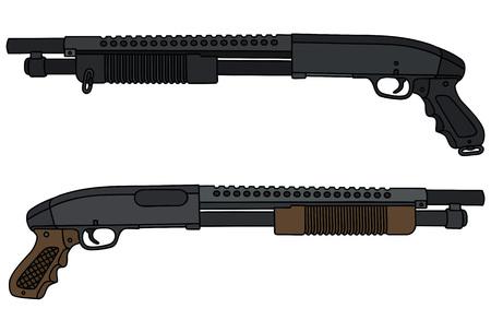 Dos escopetas de bomba corta