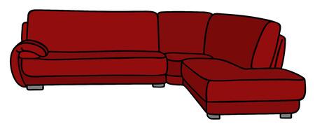 Dark red couch