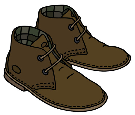 古典的な茶色のスエードの靴