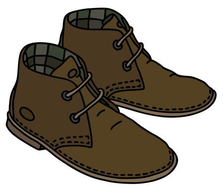 클래식 갈색 스웨이드 신발