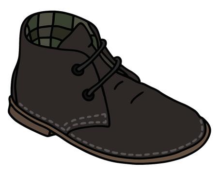 Classic black suede shoe