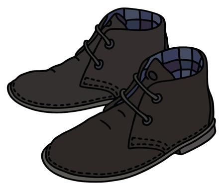 Classic black suede shoes