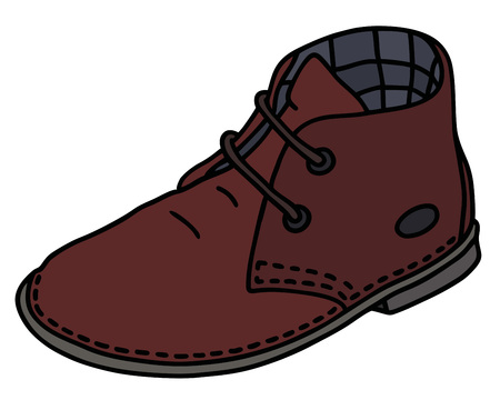 Classic dark red suede shoe