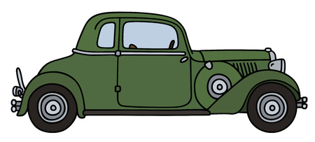coupe: Vintage green short coupe