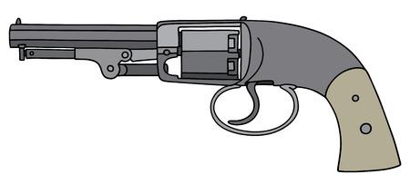 Vintage handgun with ivory handle
