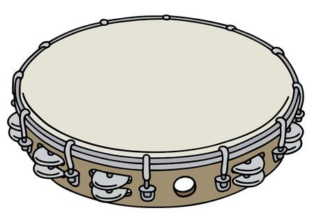 Eenvoudige houten tamboerijn