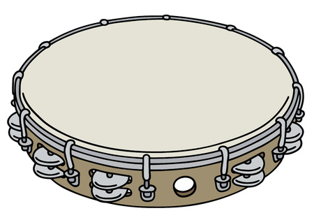 Simple wooden tambourine