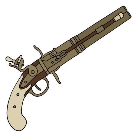 Vintage percussion pistol