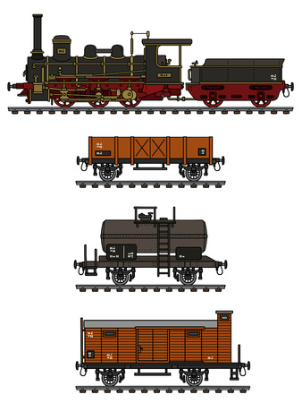 ビンテージ貨物蒸気機関車