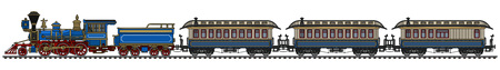 Classic American steam passenger steam train