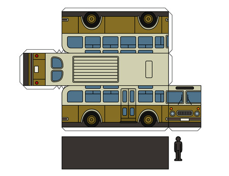 Paper model of a classic bus.