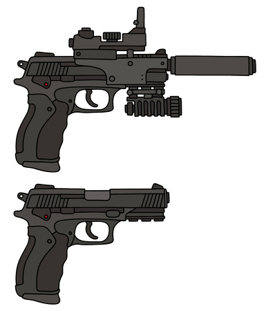 Two recent automatic handguns