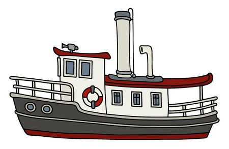 Funny old steamboat Illustration