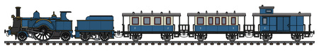 Vintage steam train icon. 일러스트