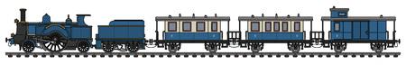 Vintage steam train icon. Stock Illustratie