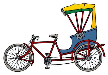 The classic cycle rickshaw