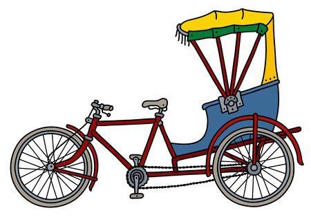 The classic cycle rickshaw