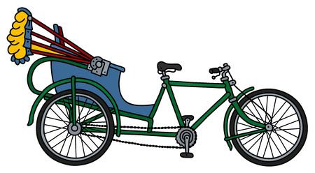 The cycle rickshaw