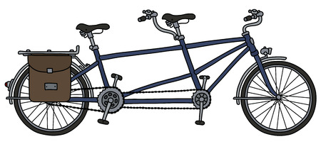 The classic tandem bicycle