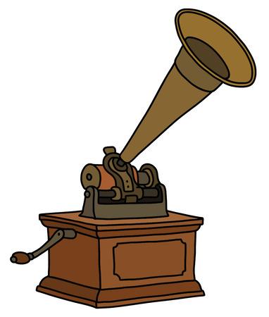 The vintage gramophone
