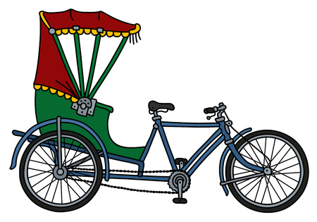 The old bangladeshi cycle rickshaw