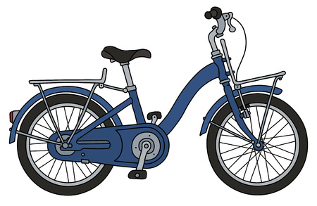 The retro blue bicycle