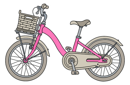 The pink bike for girls