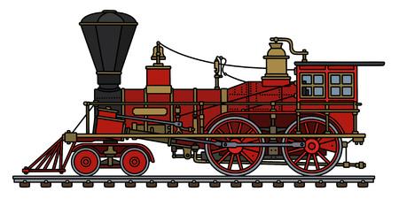 le dessin à la main d & # 39 ; une ferme sauvage à la vapeur sauvage à la vapeur Vecteurs