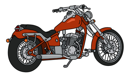 The red heavy chopper isolated on plain background.