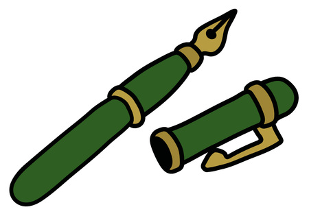The classic green fountain ink pen