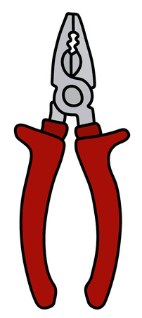 The red combination pliers