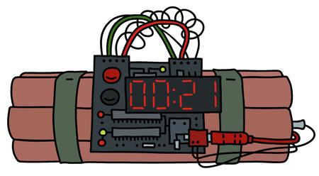 Time bomb graphic design Illustration.
