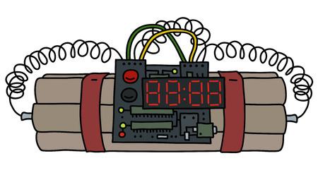 Time bomb graphic design in cartoon illustration.