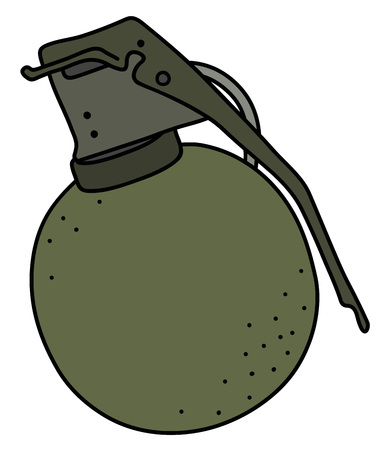 The old khaki offensive hand grenade illustration.