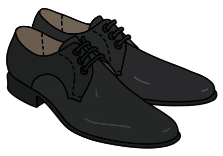 The black men's shoes 矢量图像