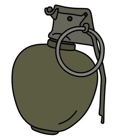 The old offensive hand grenade