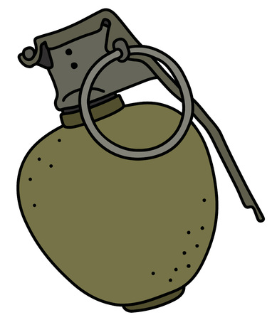 The offensive hand grenade