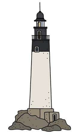 The funny old stone lighthouse
