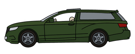 The green sports car wagon, not a real model