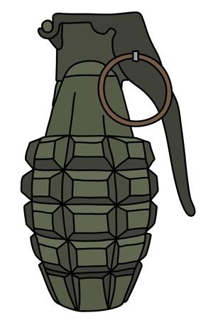 The khaki defense hand grenade