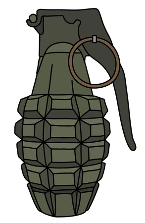 The khaki defense hand grenade