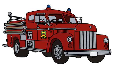 The retro fire truck
