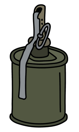 The old khaki offensive hand grenade Illustration