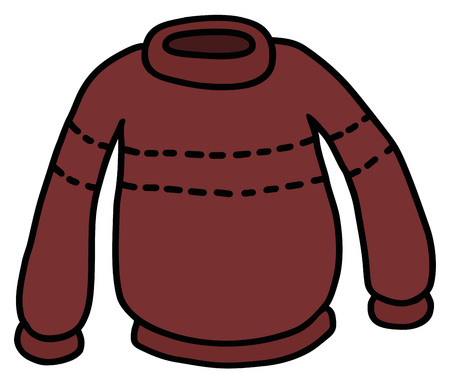 The funny dark red woolen sweater Illustration
