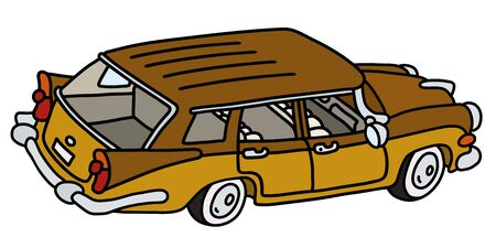 The funny old big american station wagon