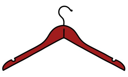 Red plastic simple coathanger